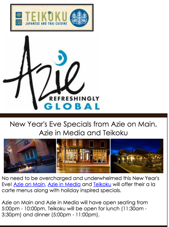 NYE at Win Signature Restaurants